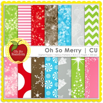 Oh So Merry {Papers for Commercial Use}