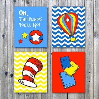 Classroom Art Posters - Oh, The Places You'll Go - Printab