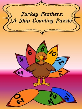 Oh, Turkey Feathers!  Skip Counting Puzzles