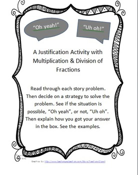 """""""Oh Yeah!"""" """"Uh oh"""": A justification Game with Multiplying"""