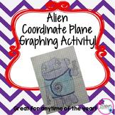 Alien Coordinate Plane Graphing Activity!