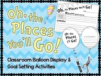 Oh, the Places You'll Go - Goal Setting Activity