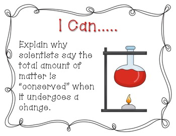 Ohio 4th Grade Physical Science Standards- I Can Statements