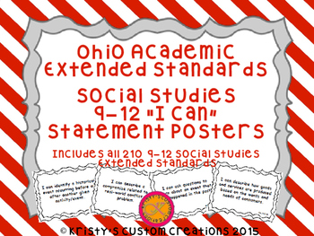 Ohio Academic Extended Standards Social Studies 9-12 I Can