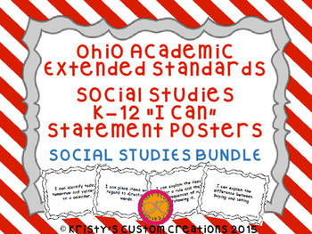 Ohio Academic Extended Standards Social Studies K-12 I Can