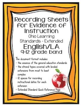 Ohio Learning Standards - Extended English/Language Arts G