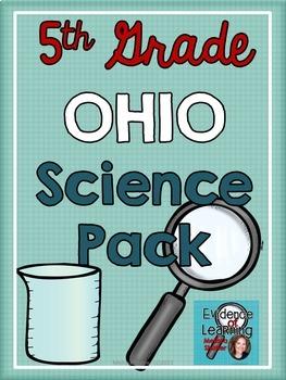 Ohio Science Notebook Printables Pack Grade 5