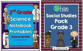 Ohio Social Studies and Science Pack Bundle Grade 3