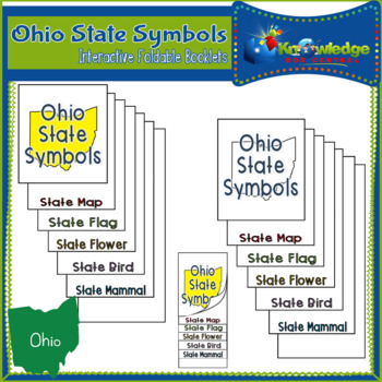 Ohio State Symbols Interactive Foldable Booklets