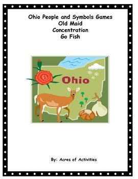 Ohio Symbols and People Card Games