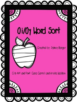 Oi and Oy Words Sort