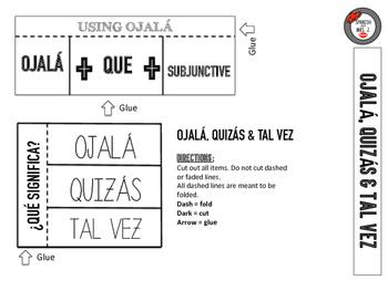Ojalá, Quizás & Tal Vez: Spanish Interactive Notebook Page