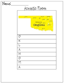 Oklahoma Acrostic Poem