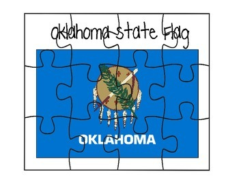 Oklahoma Flag Puzzle