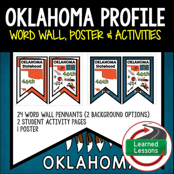 Oklahoma History Word Wall, State Profile, Activity Pages