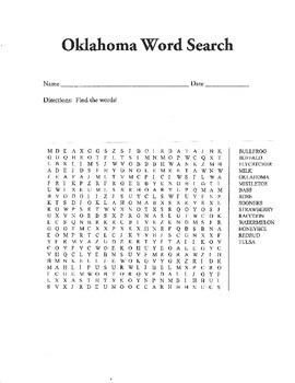 Oklahoma Word Search