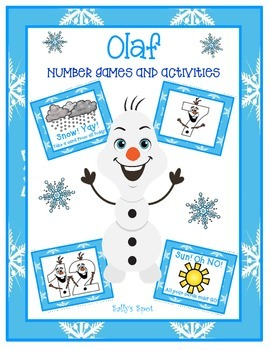 Olaf 4 Number Games and 3 Activities