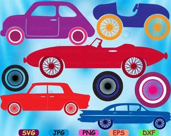 Circus Old Cars Toy Cutting files svg clip art cars car ra
