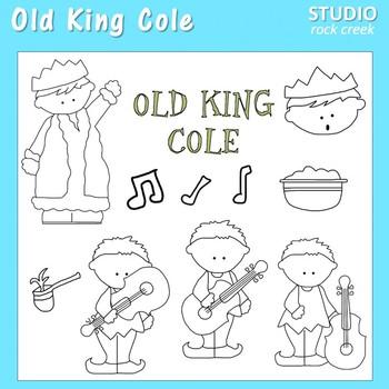 Old King Cole Line Art  C. Seslar