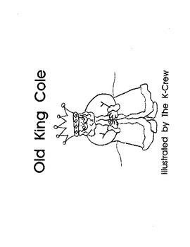 Old King Cole (blackline emergent reader)