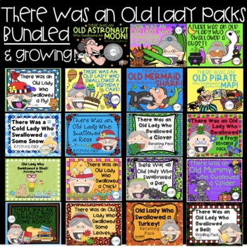 Old Lady Books: Retelling and Extension Activities {Bundle