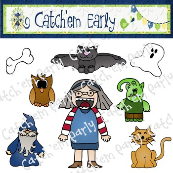 Old Lady Who Swallowed a Bat Colored Clip Art