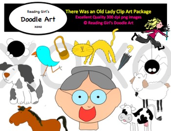 Old Lady Who Swallowed a Fly Clipart