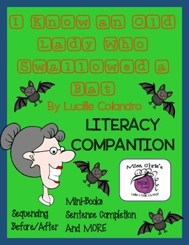 Old Lady who Swallowed a BAT Lit. Companion Lots of fun Ac