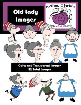 Old Lady who Swallowed a. . . . . CLIPART Color and Transparent