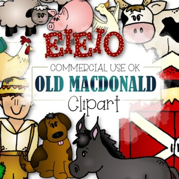 Old MacDonald Clipart - (CU and CU4CU OK)
