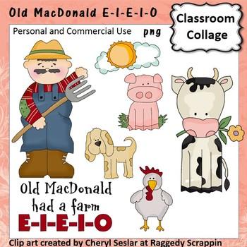 Old MacDonald Had a Farm Clip Art personal & commercial us