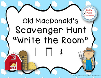 "Old MacDonald's Scavenger Hunt, ""Write the Room"" - Ta rest"