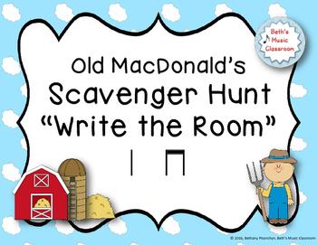 "Old MacDonald's Scavenger Hunt, ""Write the Room"" - Ta, ti-"