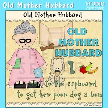 Old Mother Hubbard Nursery Rhyme Clip Art C Seslar