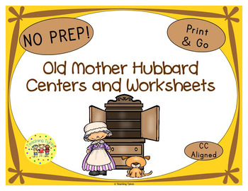 Old Mother Hubbard Worksheets Activities Games Printables