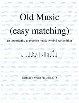 """Old Music"" Game (matching)"