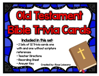 Old Testament Trivia Cards