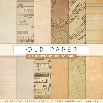 Old Textures Digital Paper, scrapbook backgrounds