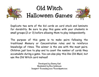 Old Witch Halloween Card Game
