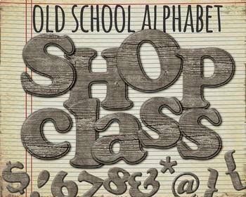 SALE- Old Wood Letter Clip art