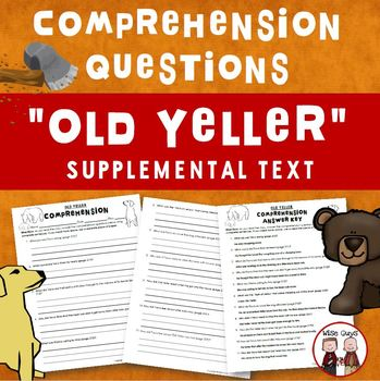 Old Yeller Comprehension Questions Activity Journeys Suppl