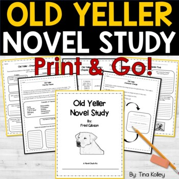 Printables Old Yeller Worksheets old yeller novel study comprehension and by tina kolley vocabulary questions