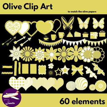 Olive Clip Art Decoration Scrapbooking Elements - 60 items