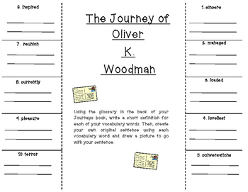 Oliver K. Woodman Vocabulary Foldable