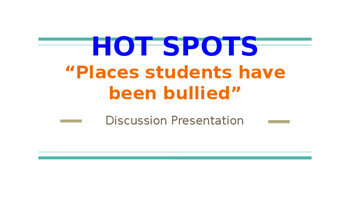 "Olweus: Hot Spots: ""Places where students have been bullied"""