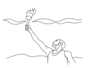 Olympic Games Coloring Sheet