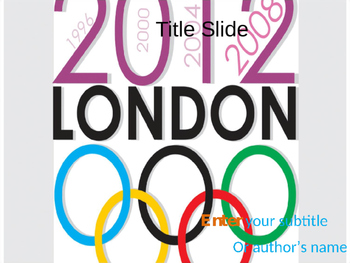 Olympic Games PPT Template