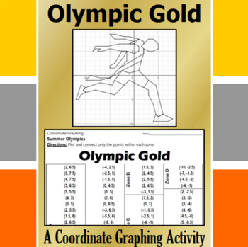 Olympic Gold - A Coordinate Graphing Activity
