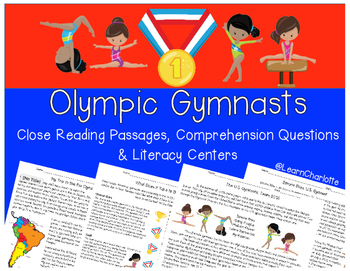 Olympic Gymnastics Team {Close Reading, Questions, & Liter