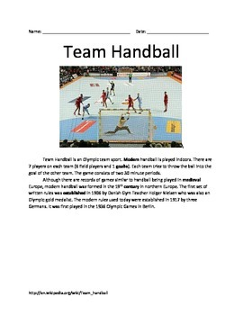 Olympic Handball - All the facts information - questions v